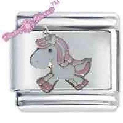 Personalised HORSE Name Full Bracelet Daisy Charm Modular Italian Charm