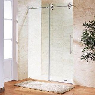 Vigo 72 Inch Frameless Sliding Glass Shower Door Sliding Shower