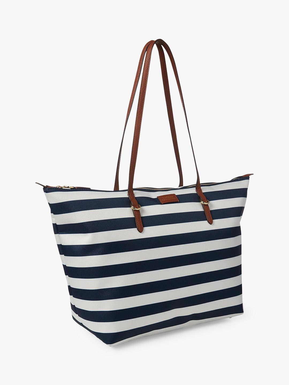 puolet ajatuksia edullinen hinta Lauren Ralph Lauren Chadwick Tote Bag, Navy/White | Rainy ...