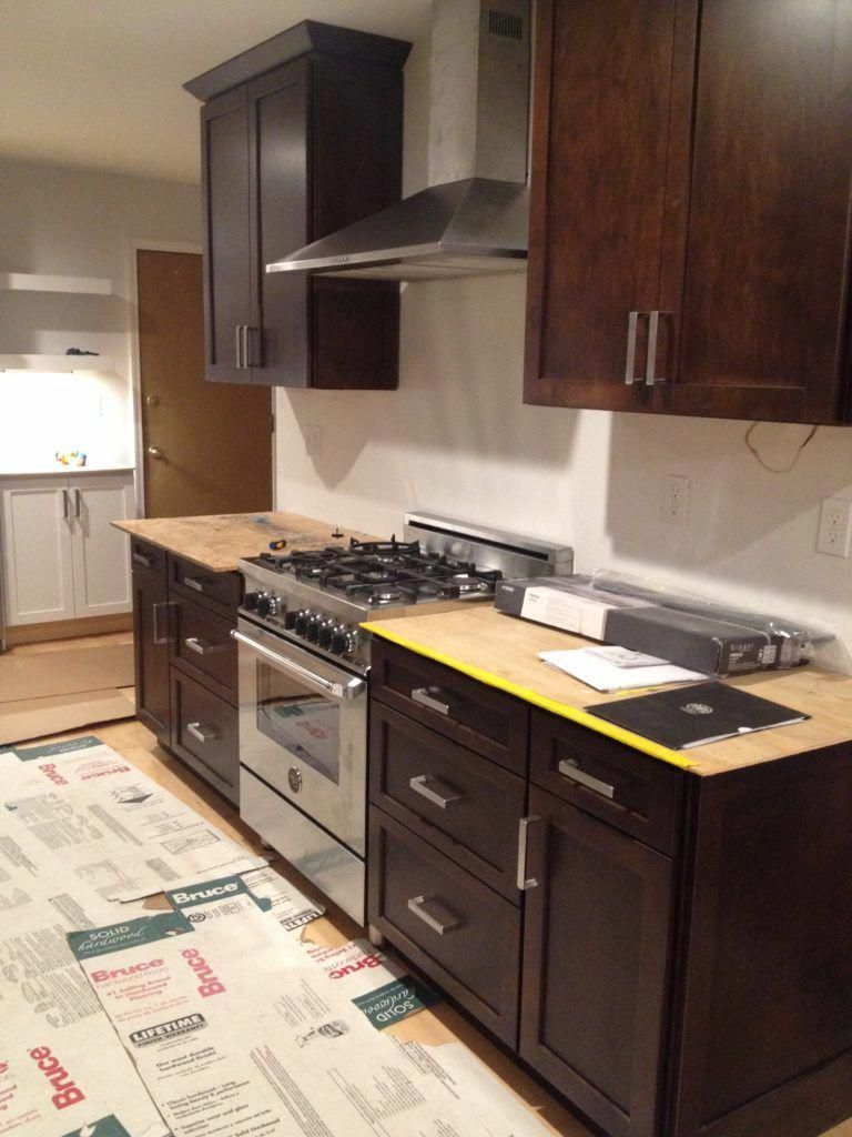 Galley Kitchen Renovation - Disheveled Delight #cheapkitchenremodel #ikeagalleykitchen