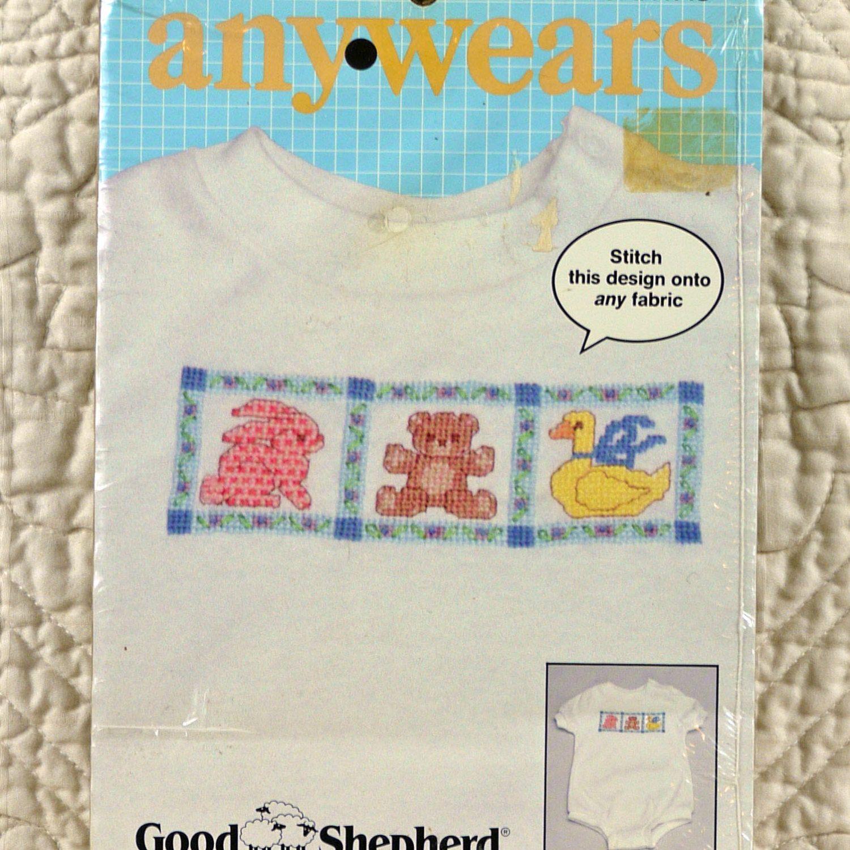 Baby animals waste canvas cross stitch kit anywears