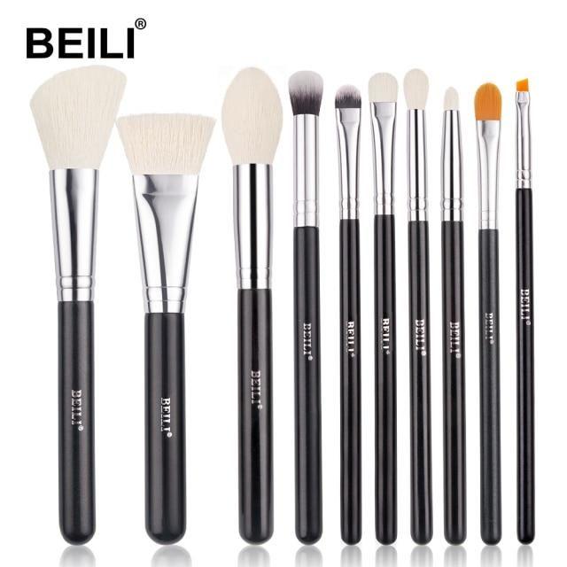 Professionelles schwarzes Make-up Ziegenhaarbürsten-Set – B10-2 / China