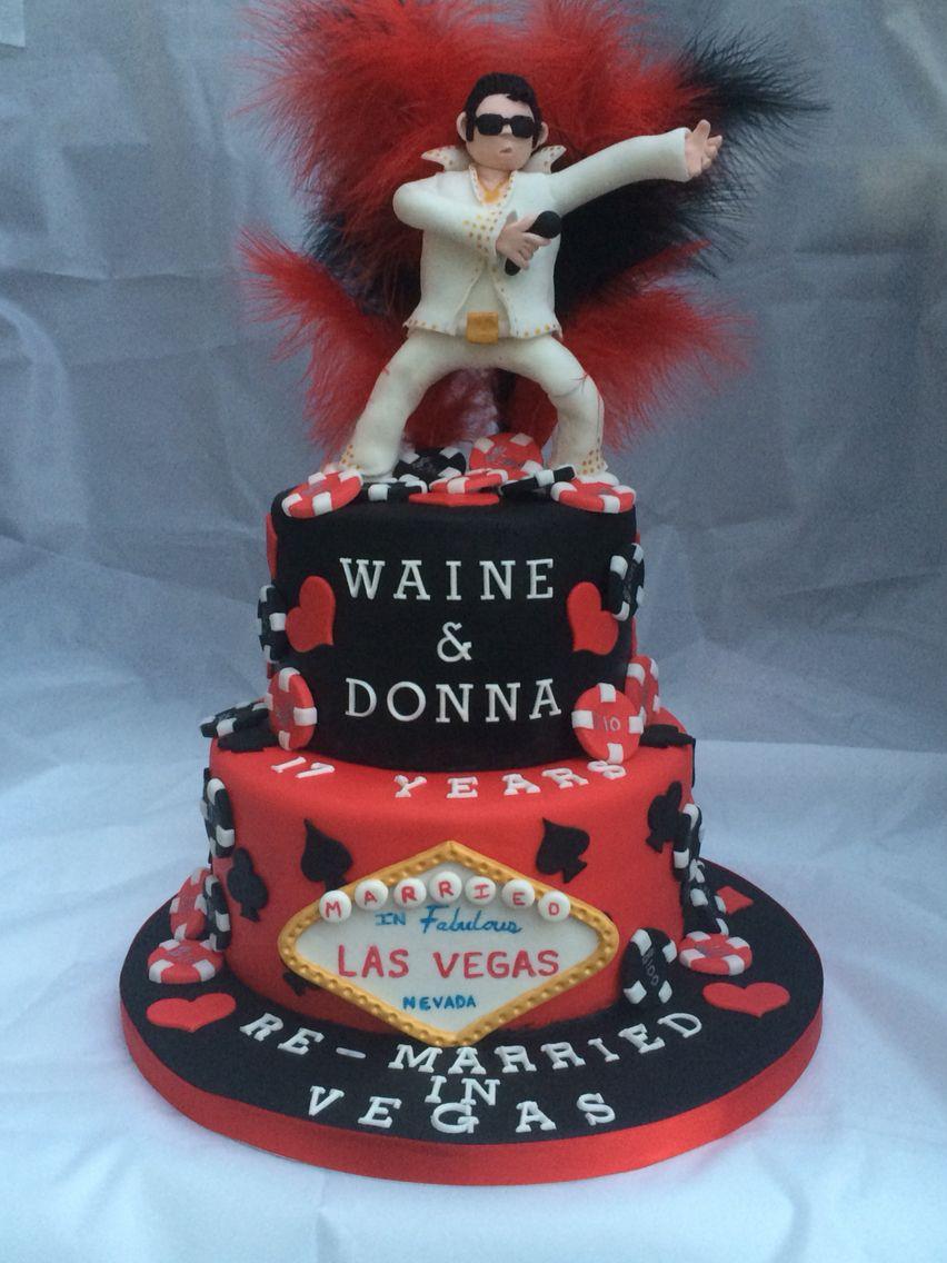 Elvis las vegas themed anniversary cake anniversary