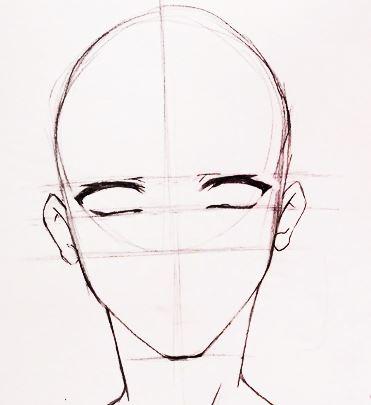 How To Draw Manga Boy Face 12 Steps Boy Draw Face Manga Steps Anime Face Drawing Anime Drawings Tutorials Manga Drawing Tutorials