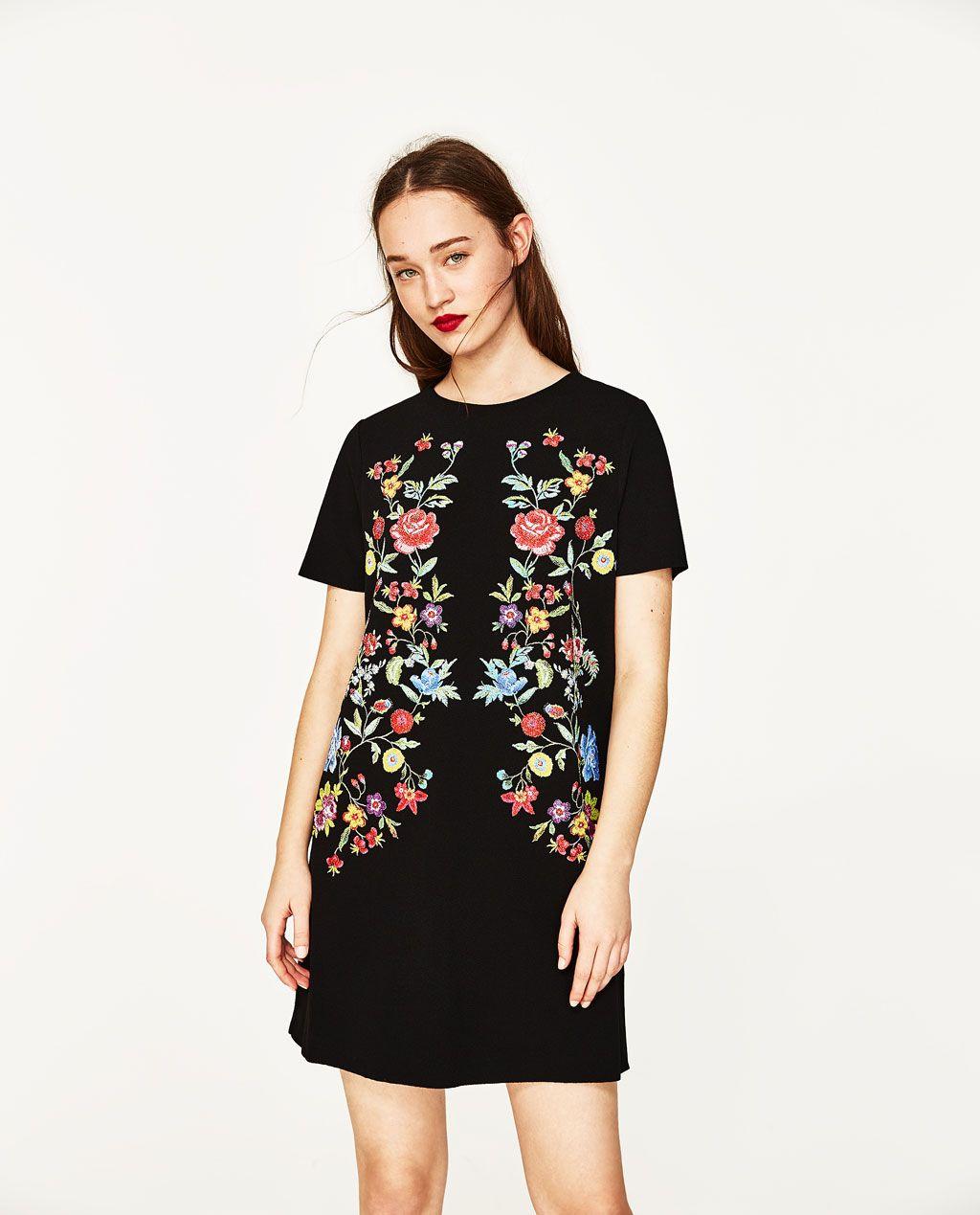 printed rubberised dress dresses zara united