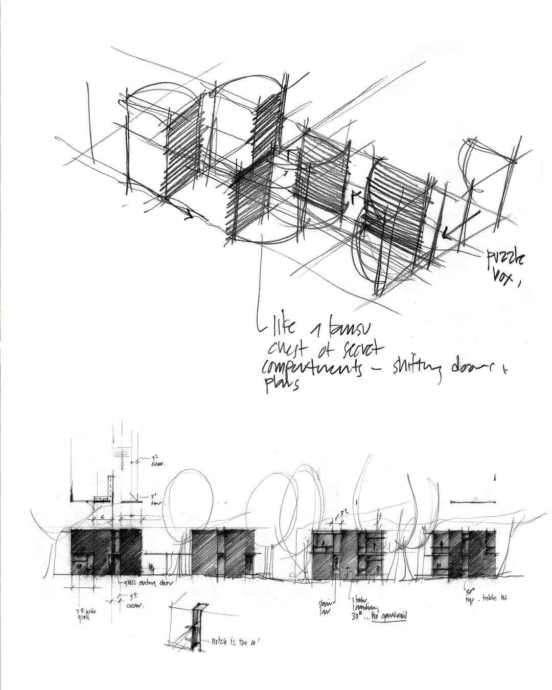 How architecture is born 8 pencil sketches by tom kundig for Paper for architectural drawings
