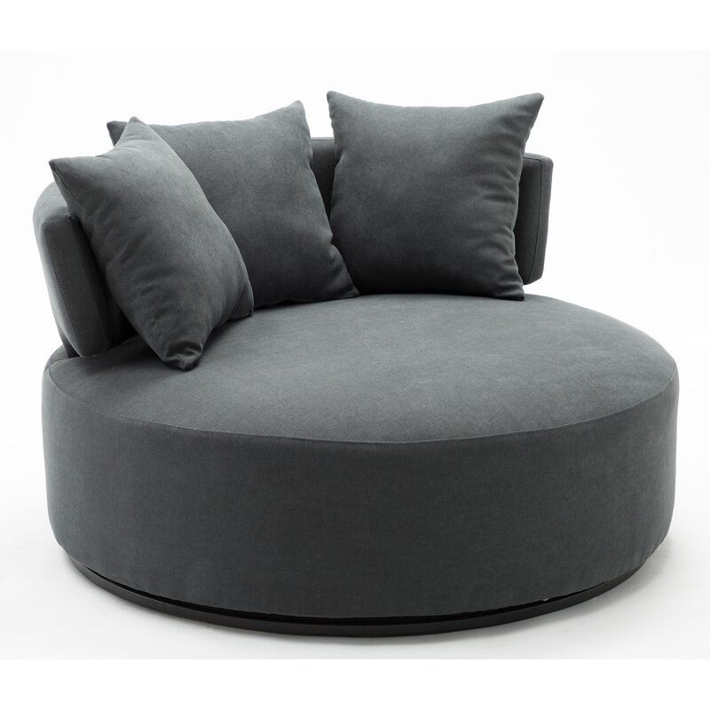Horka Swivel Chair And A Half In 2020 Chair And A Half Swivel