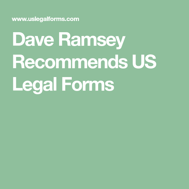 Dave Ramsey Recommends Us Legal Forms Organization Diy