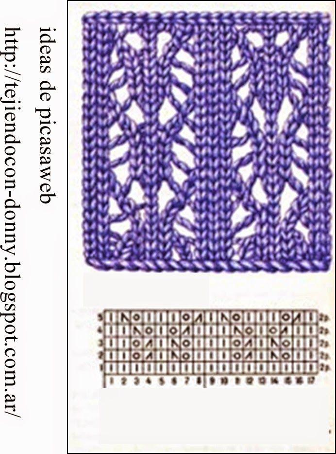 Tejidos a dos agujas tricot patrones graficos todo - Puntos para tejer ...