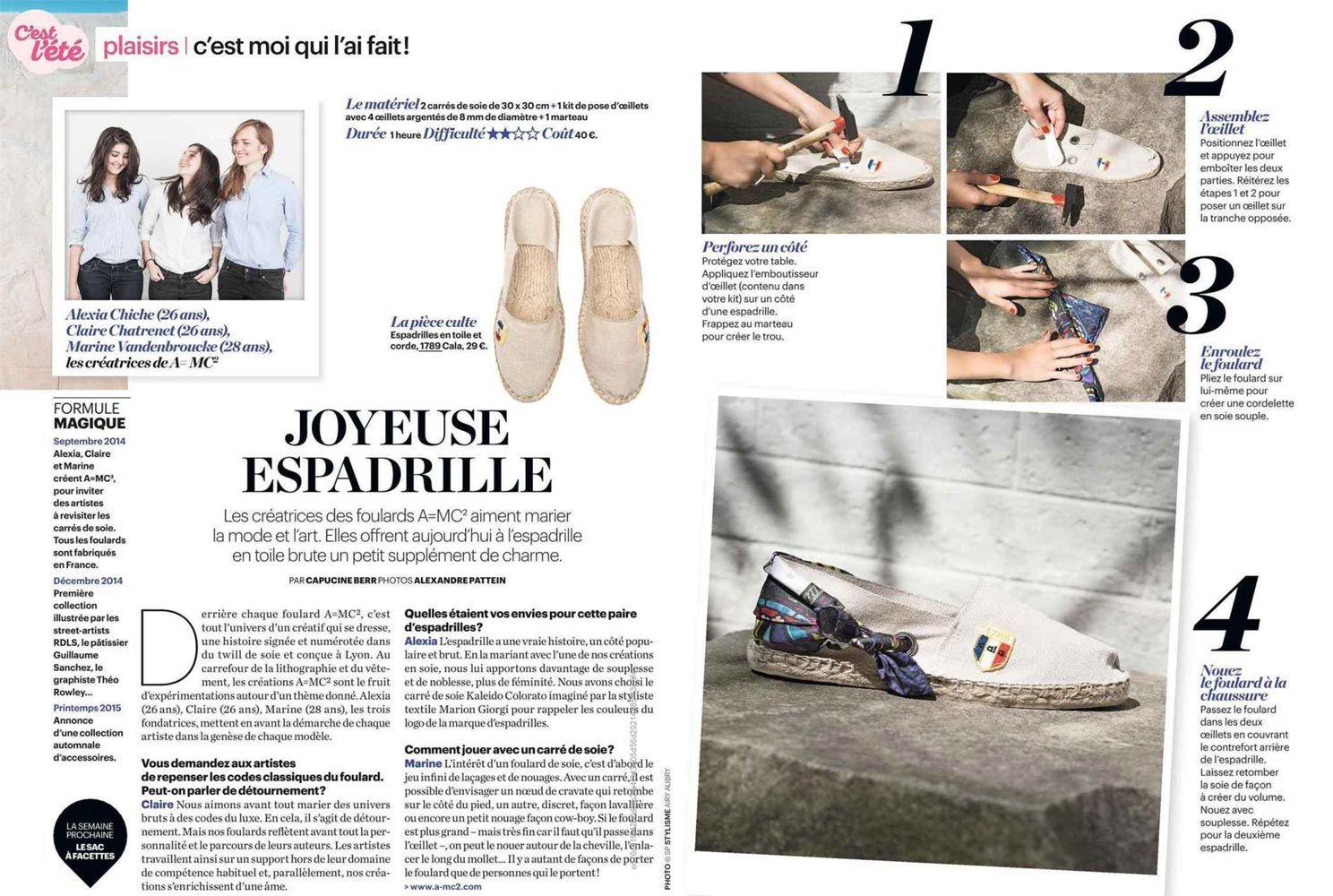 @leparisienmag nous dédie un article en #aout2015 #espadrille #1789cala #mode #tendance #fashionstreet
