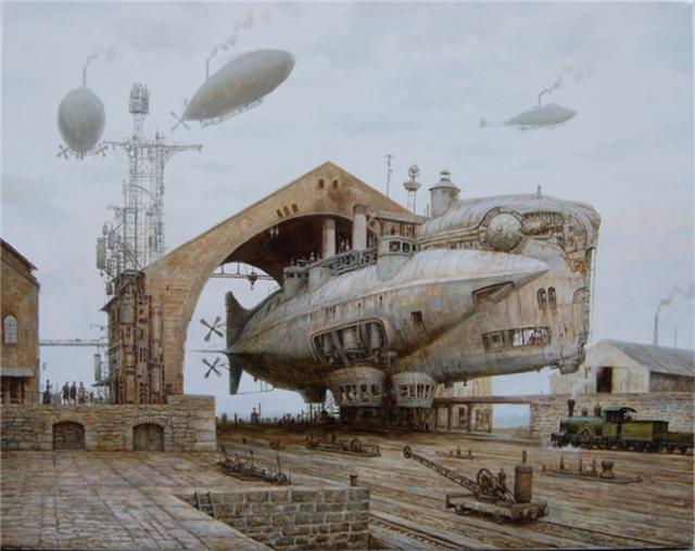 用水彩畫既復古又有未來感的蒸汽龐克風 - ㄇㄞˋ點子靈感創意誌