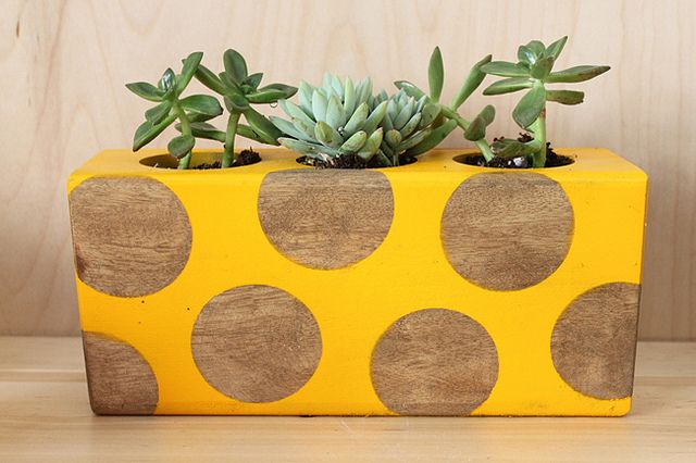 upcycled sugar mold - make your own from wood scrap with holes drilled