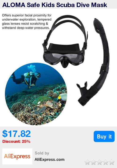 ALOMA Safe Kids Scuba Dive Mask Professional Silicone