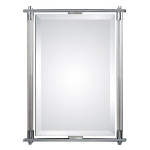 Adara Vanity Polished Chrome 35 5 Inch Mirror