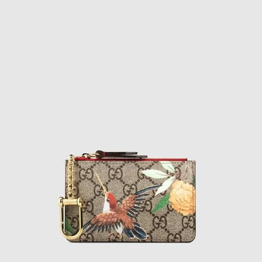 73f1c4946ee2 Gucci Tian GG Supreme key case   Gucci   Gucci, Wallets for women ...