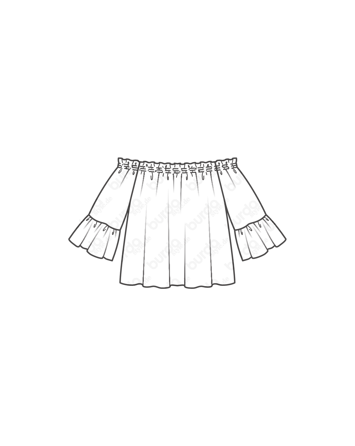 Schnittmuster Off-Shoulder-Bluse 02/2017 #116 | sewing | Pinterest ...