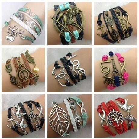 Really cute fashionable bracelets! So DIY too!!