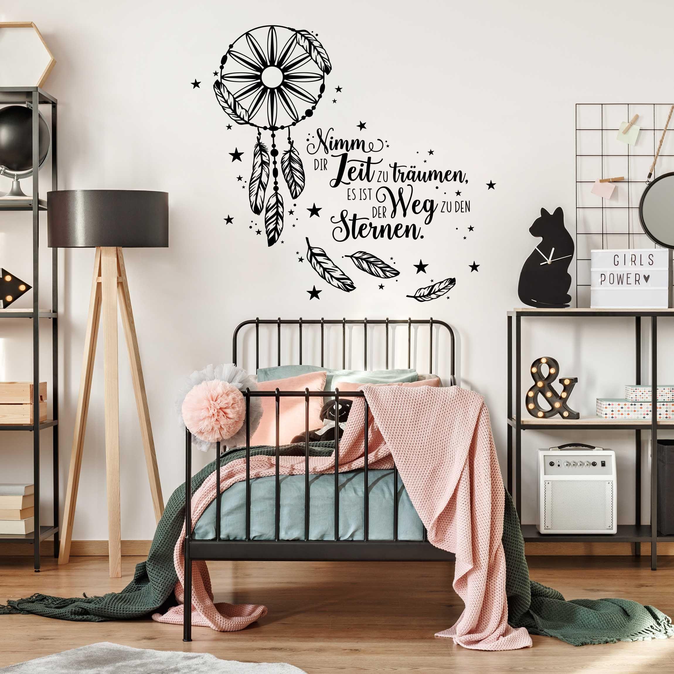 Wandtattoo Traumfanger Nimm Dir Zeit In 2020 Wandtattoo Schlafzimmer Schlafzimmer Wand Wandgestaltung Schlafzimmer