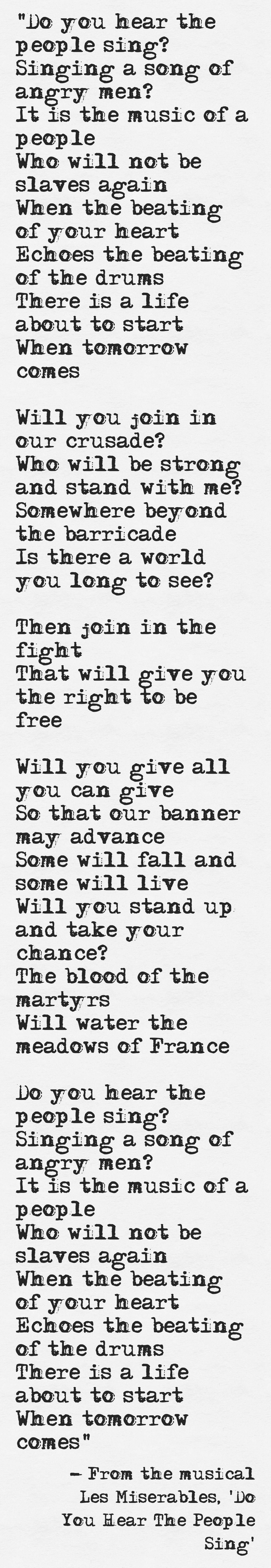 Get More From Pinterest Les Miserables Music Quotes Song Lyrics