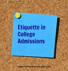 Etiquette in College Admissions: Practical tips for teens about interviews, emails, college visits, and recommendations.