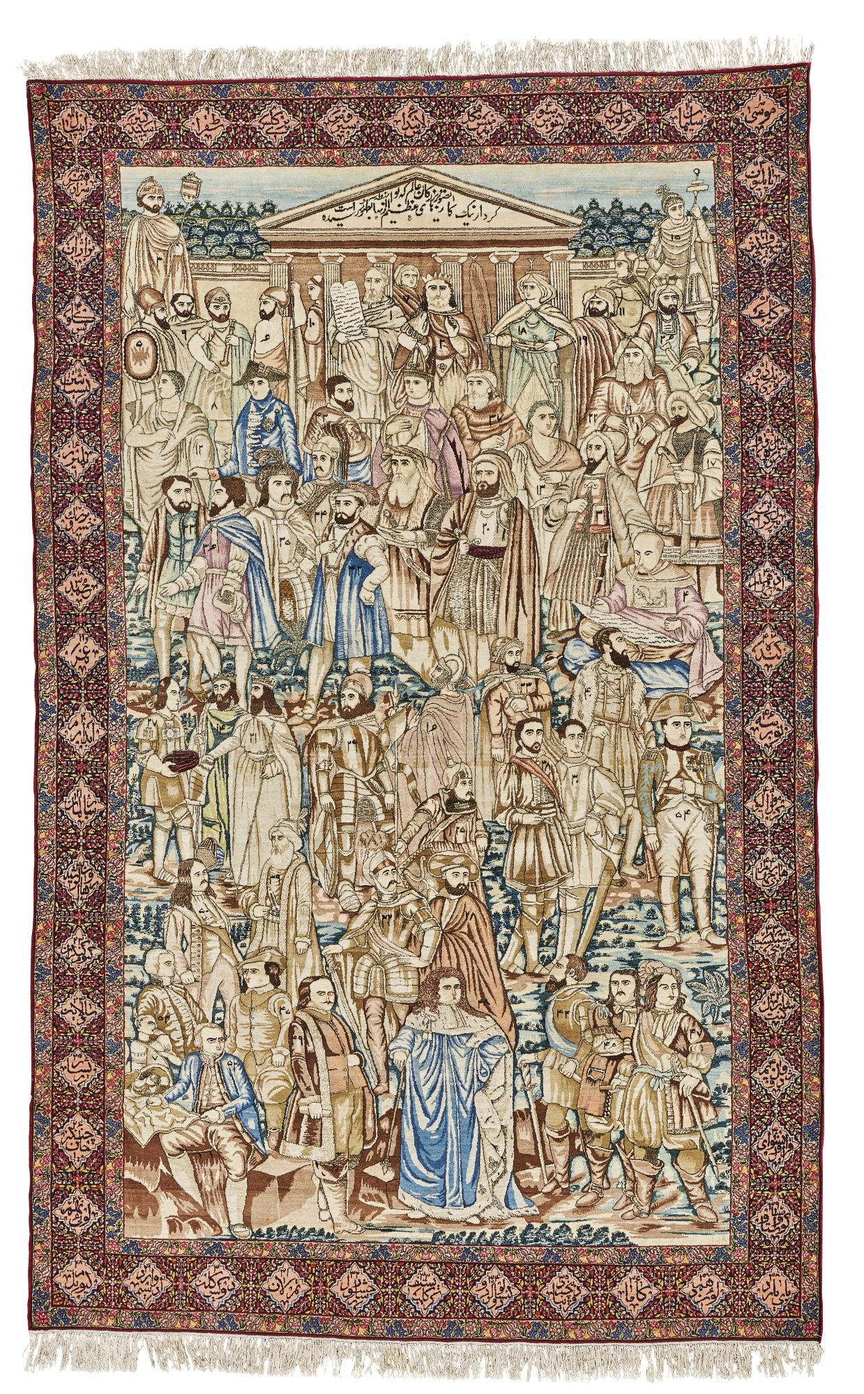 Meshehir Kirman Carpet Southeast Persia Approximately 266 By 167cm 8ft 8in 5ft 5in Circa 1900 With Inscriptions The Pedimen Teppich Ideen Perserteppich