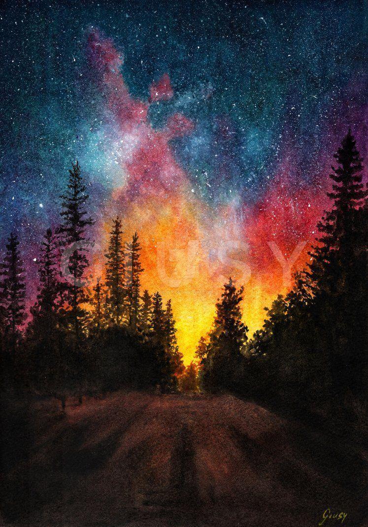 Nachthimmel Nachthimmel Painting Ideas On Canvas For Beginners Step By Step 2020 Soyut Resimler Tuval Resimleri Resimler
