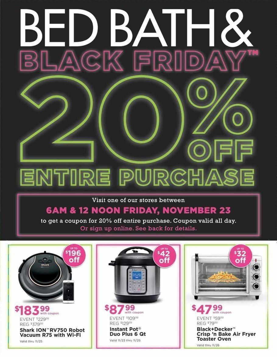Bed Bath Beyond 2019 Black Friday Ad Black Friday Ads Black Friday Bath And Beyond Coupon