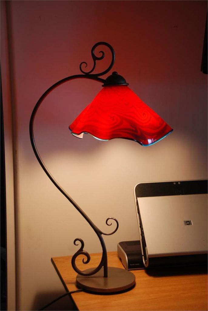 Red Lampshade The Range Red Lamp Shade Red Lamp Wrought Iron Decor