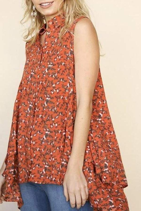 4f4e3049442 Umgee USA Sweet Tangerine Top