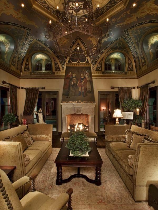 Gro artiges wohnzimmer decke dekoration kronleuchter sofas for Dekoration wohnzimmer