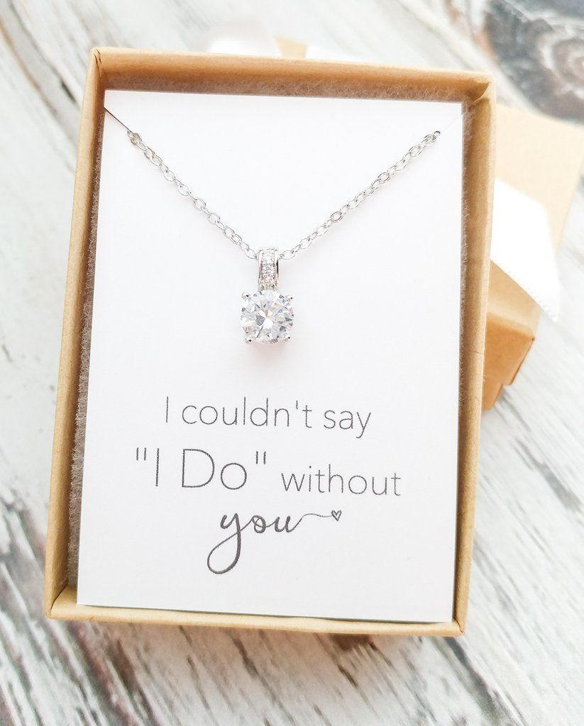 Rose Gold/Silver Solitaire Necklace | Rose, Gold and Bridal parties