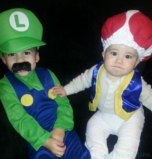 Mario Brothers with DIY Toad Costume  sc 1 st  Pinterest & DIY Toad Costume / Hat ~ Baby or Kid | Pinterest | Mario brothers ...