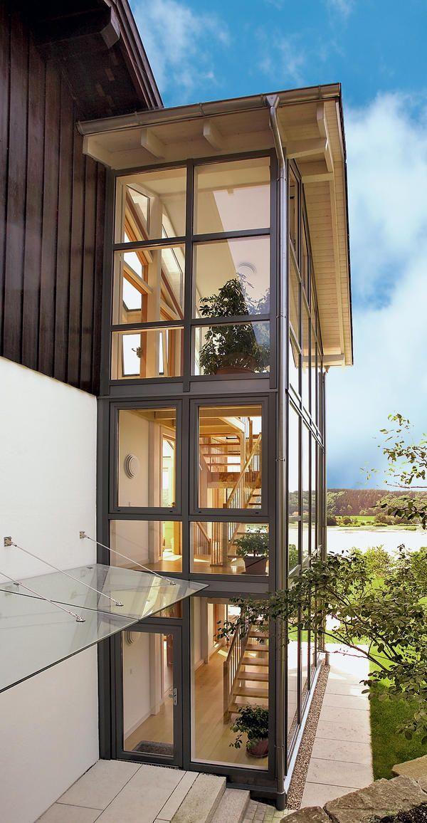 Treppenhaus einfamilienhaus außen  Balkon terrasse bauen kosten: ideen aus stahl dirk john. | Haus ...