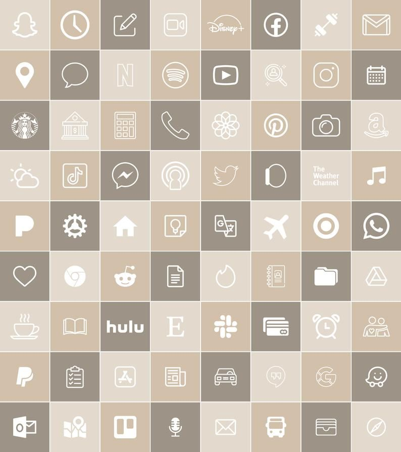 Neutral Tone | 300 Aesthetic Custom App icons pack