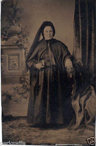 Tinytype Photograph Woman Grandma Tinted Cheeks MDE Soaliene Grand'Mere de Ida   eBay
