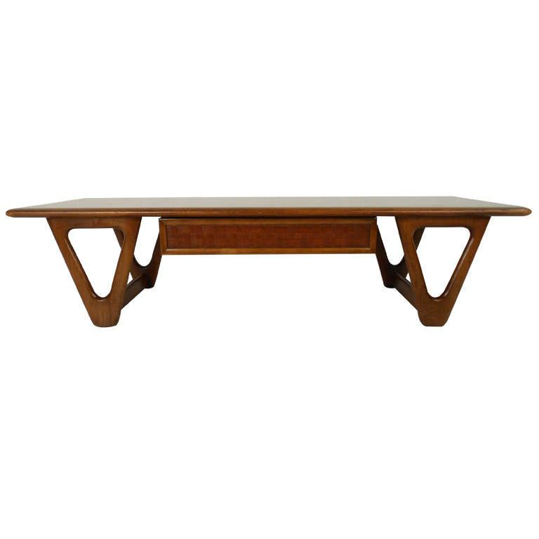 Vintage Modern Walnut Coffee Table By Warren Church For
