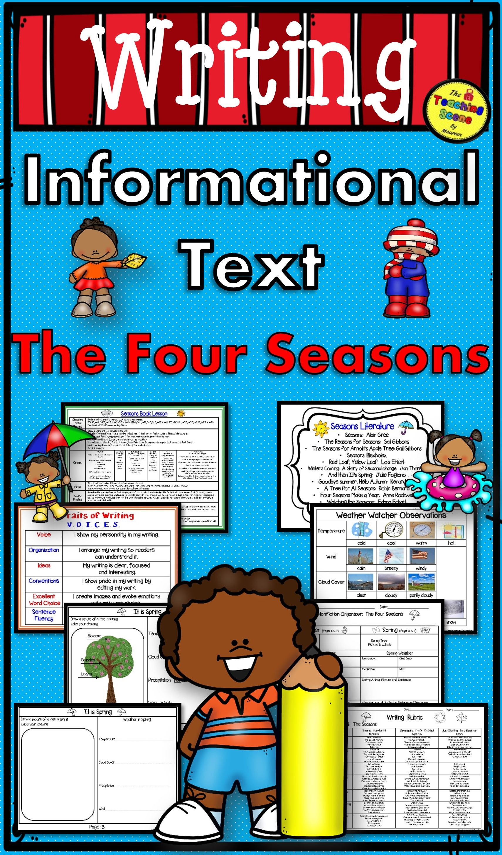 The Four Seasons Informational Text Writing