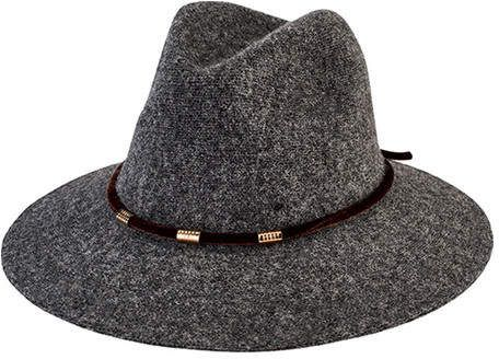 San Diego Hat Company Women s Knit Fedora with Velvet Band Gold Trim  CTH8074 9239e0dc8574