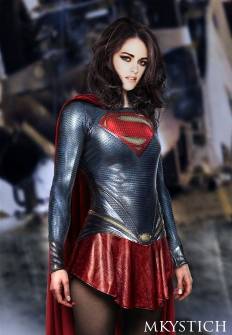 woman of steel costume supergirl cosplay inspired by the upcoming movie man of steel - Kristen Stewart Halloween Costume