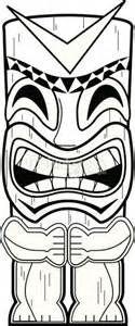 Tiki Totem Pole Coloring Pages sketch template | Tiki ...