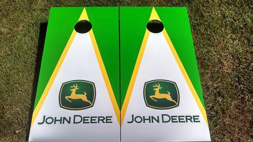 John Deere Cornhole Wraps Vinyl Boards Decals Bag Toss Game Stickers