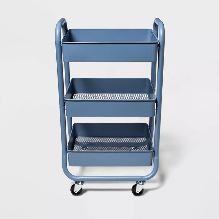 3 Tier Metal Utility Cart White Made By Design In 2020 Utility Cart Made By Design Metal Cart