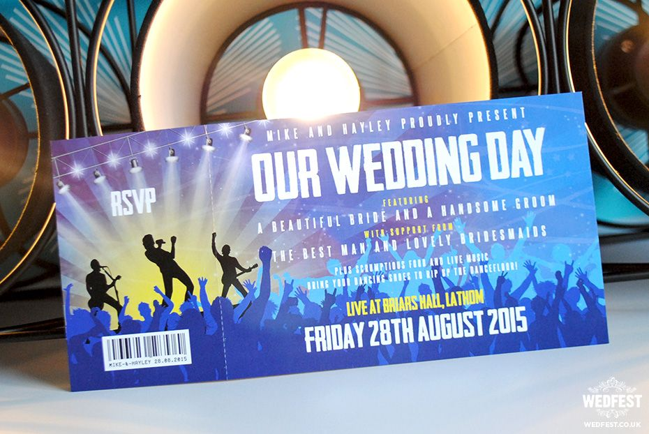 Concert \ Gig Ticket Wedding Invites - http\/\/wwwwedfest - invitations that look like concert tickets