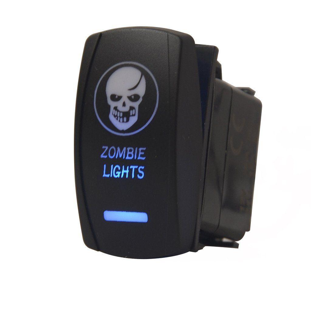 Amazon.com: mictuning 5pin Zombie Lights Symbol Rocker Switch ON-OFF ...