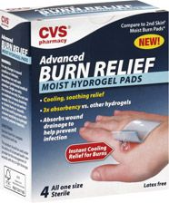 cvs advanced burn relief moist hydrogel pads ah pinterest burn