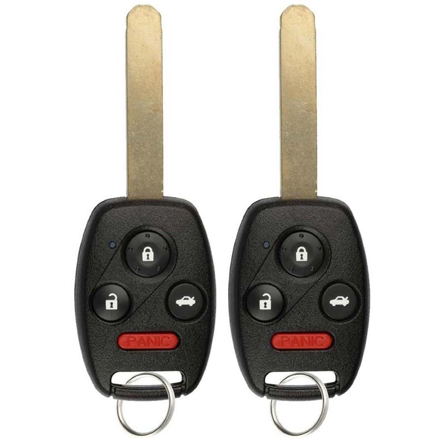 2 New Keyless Entry Remote Key Fob For 2003-2007 Honda
