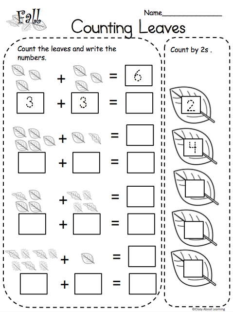 Leaf Counting Worksheet Made By Teachers English Worksheets For Kindergarten Counting Kindergarten Counting Worksheets