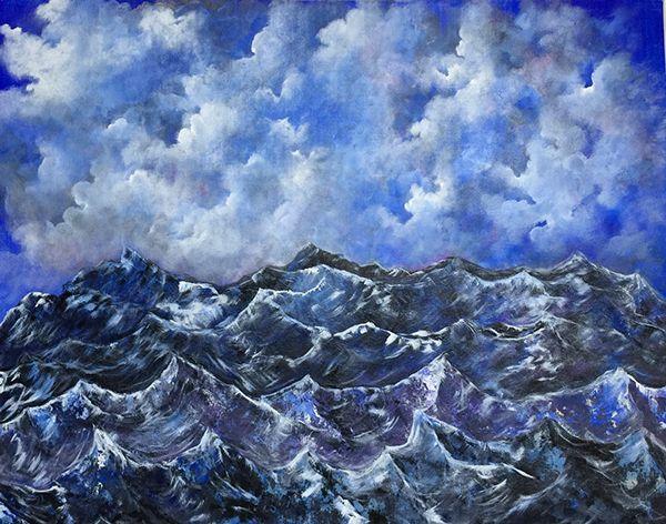 Blue Sea Mountains on Behance