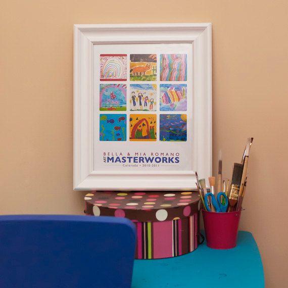 childs artwork collage