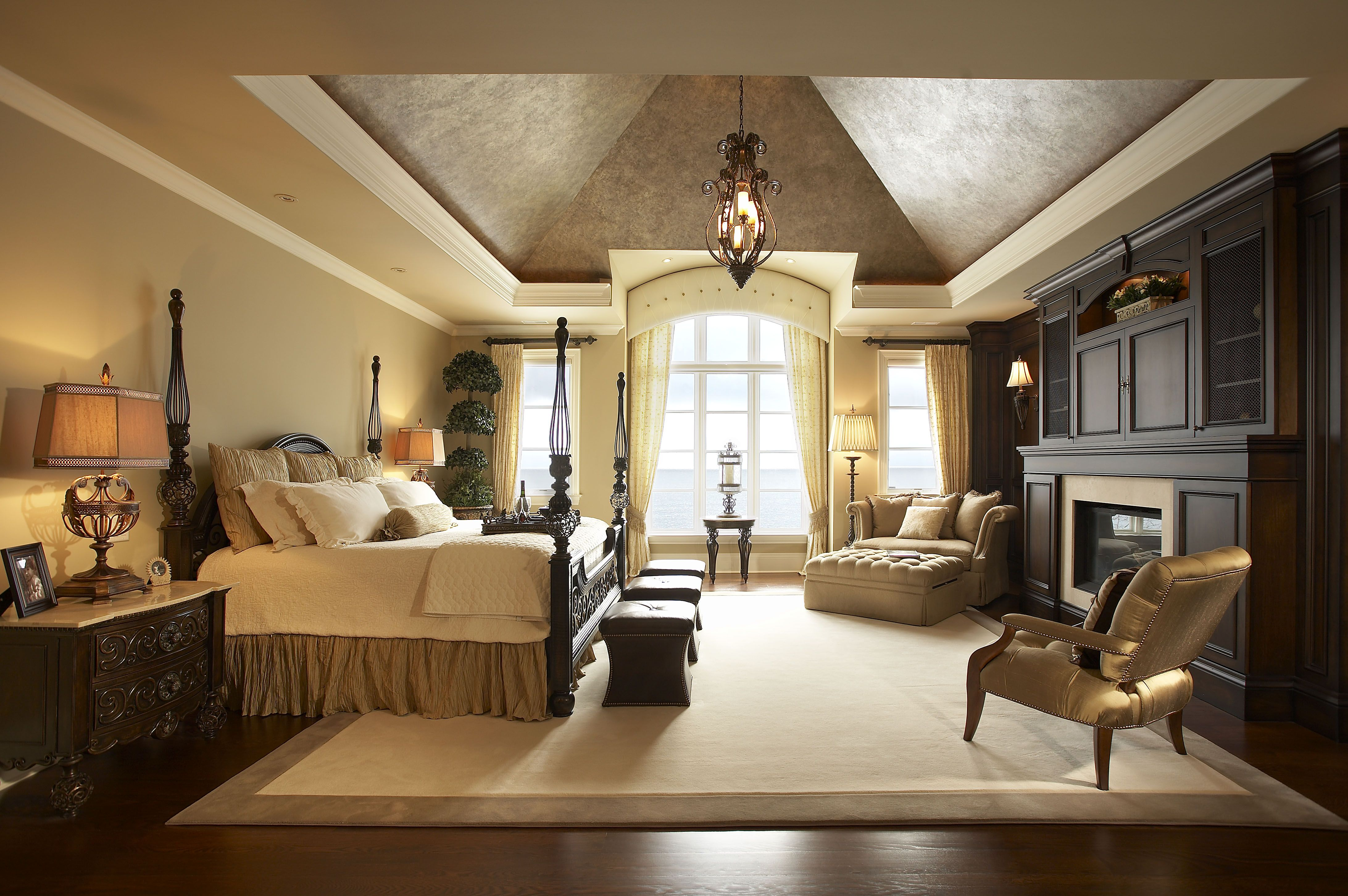 A Traditional Style Master Bedroom By Parkyn Design Www Parkyndesign Com Bedroom With Sitting Area Bedroom Design Traditional Bedroom Traditional bedroom ideas photos